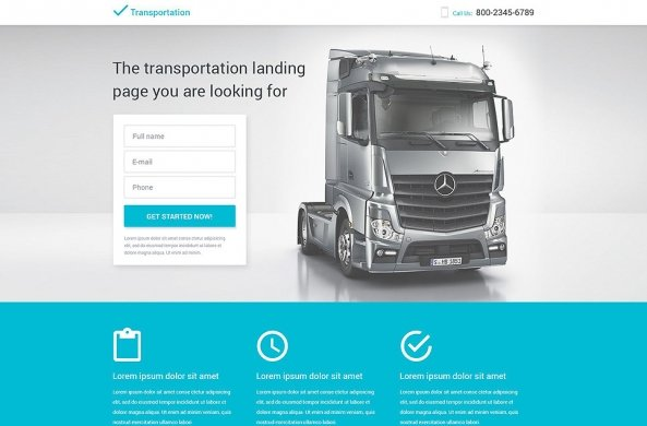 Transportation Responsive Landing Page